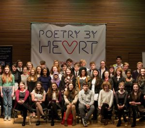 Group of finalists at the Poetry by Heart competition in London