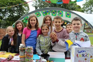 group photograph of children at the PTA Summer Fete 2014