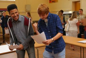 Pupils celebrate GCSE results