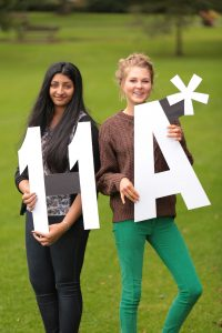 Aditi and Olivia gained 11 A* GCSE's