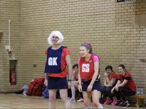 Dressing up for the school netball match in Aid of Comic Relief