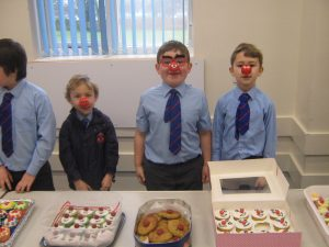 Red House Pupils hold a cake stall to raise money for comic relief