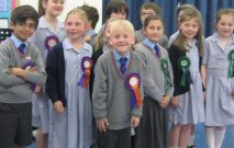Pupils in the Red House School General Election
