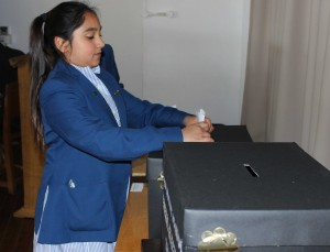 Pupils voting in the Red House School General Election