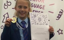 Isobel came third in the Junior Language Challenge