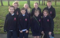 Pupils taking part in Cross Country Stockton