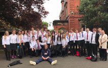 group photograph of the Year 11 leaver 2017