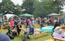 people gathering at the summer fete