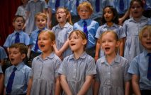 Red House School pupils sing at the Festival of Achievement