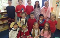 A group of Red House School pupils dressed up in aid of World Book Day