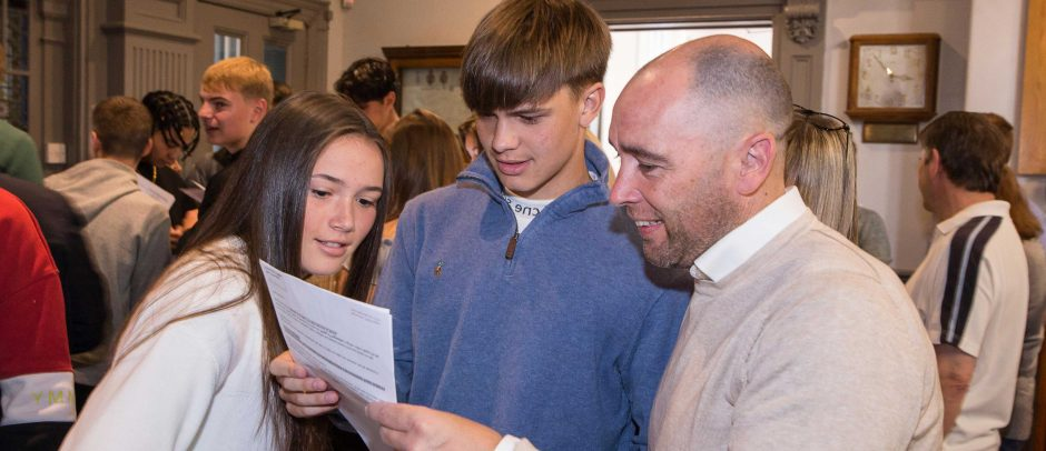 Red House pupil James opening his GCSE results