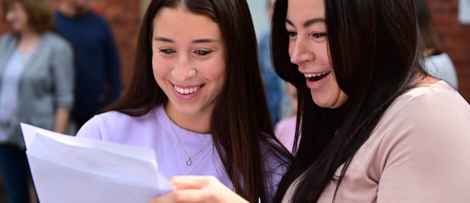 Pupils at Red House School receive their GCSE results
