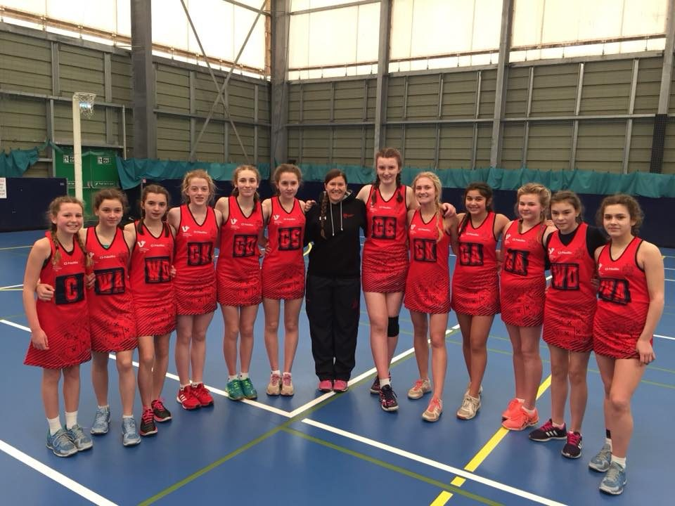 Group photo of the under 14 netball team